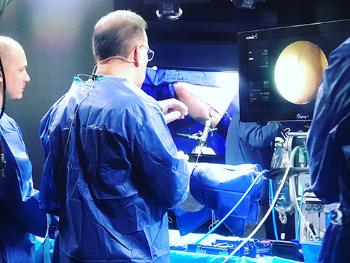 Dr Herrera recently was  at Arthrex in Naples, Fl taping a video for Arthrex' regarding a novel hip arthroscopy wand. This wand will make hip arthroscopy, labral repair and FAI surgery much easier.